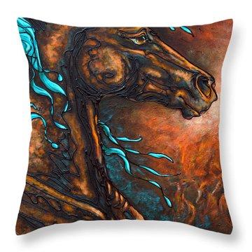 Fire Run Throw Pillow