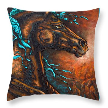 Fire Run Throw Pillow