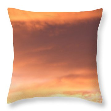 Fire Skyline Throw Pillow