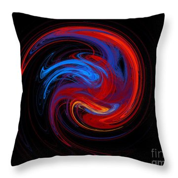 Fire Sphere Throw Pillow by Andee Design