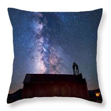 Fire Station At Bodie Throw Pillow
