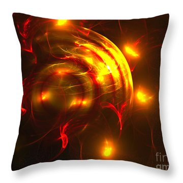 Throw Pillow featuring the digital art Fire Storm by Victoria Harrington