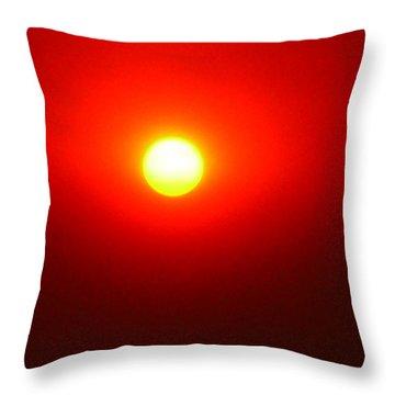 Throw Pillow featuring the photograph Fire Sun by Julia Ivanovna Willhite
