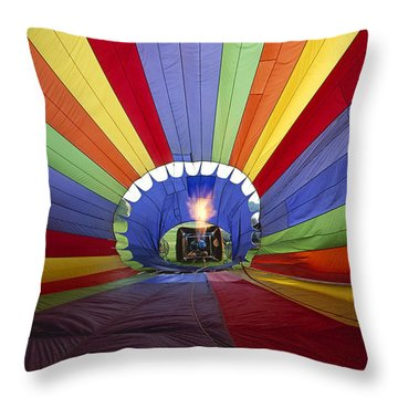 Fire The Balloon Throw Pillow by Martin Konopacki