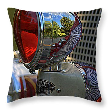 Fire Truck Reflections Throw Pillow
