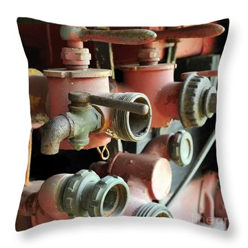 fire Truck valves 20x20 Throw Pillow