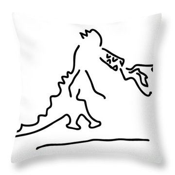 Fire Vomits Dragon From The Fairy Tale Throw Pillow by Lineamentum