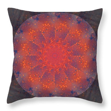 Fire Water Mandala Throw Pillow