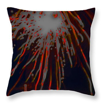 Throw Pillow featuring the photograph Fire Works by Mae Wertz
