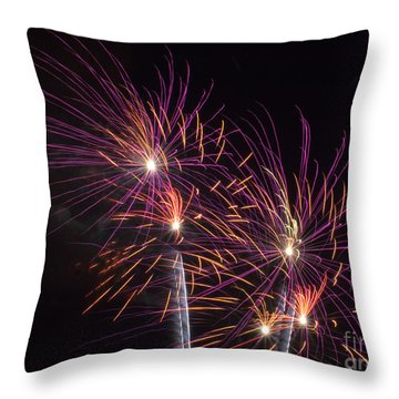 Fire Works Throw Pillow