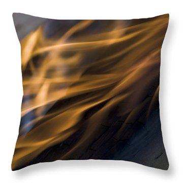 Throw Pillow featuring the photograph Fire by Yulia Kazansky