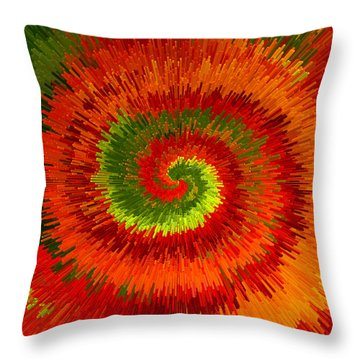 Throw Pillow featuring the photograph Fireburst Extrusion by Ellen Tully