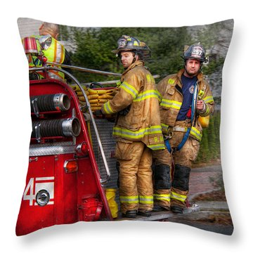 Firefighting - Only You Can Prevent Fires Throw Pillow by Mike Savad