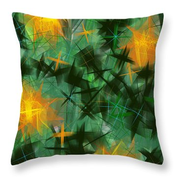 Fireflies Throw Pillow by Lena Wilhite