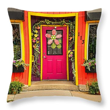 Throw Pillow featuring the photograph Firefly Floral Shop by Trey Foerster