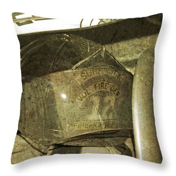 Firehat Throw Pillow by Betsy Knapp