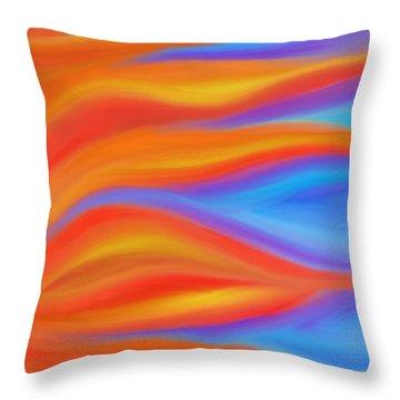 Firelight Throw Pillow by Daina White