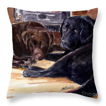 Firelight Throw Pillow by Molly Poole