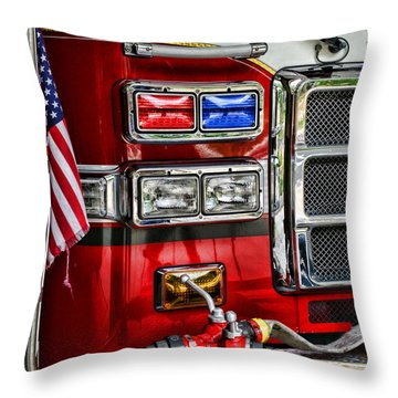 Fireman - Fire Engine Throw Pillow