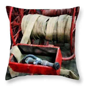 Fireman - Fire Hoses Throw Pillow
