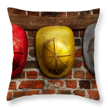 Fireman - Hats - Pick A Hat Any Hat  Throw Pillow by Mike Savad