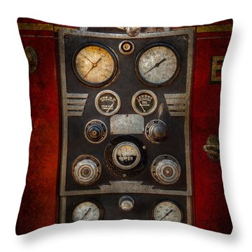 Fireman - Keep An Eye On The Pressure  Throw Pillow by Mike Savad