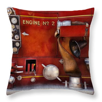 Fireman - Old Fashioned Controls Throw Pillow by Mike Savad