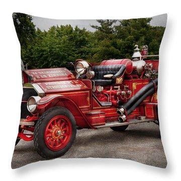 Fireman - Phoenix No2 Stroudsburg Pa 1923  Throw Pillow by Mike Savad