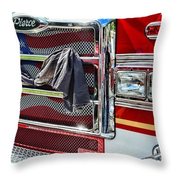 Fireman - Remembering Fallen Heroes Throw Pillow by Paul Ward