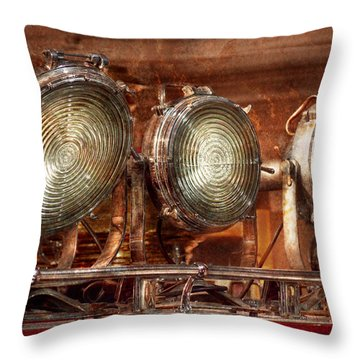 Fireman - Search Lights  Throw Pillow by Mike Savad