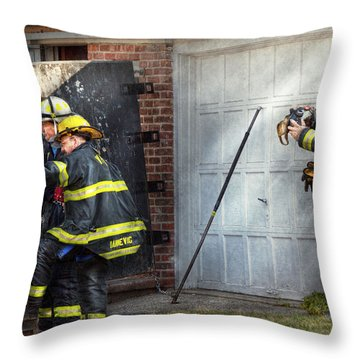 Fireman - Take All Fires Seriously  Throw Pillow by Mike Savad
