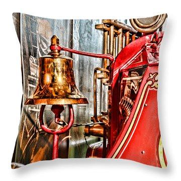 Fireman - The Fire Bell Throw Pillow by Paul Ward