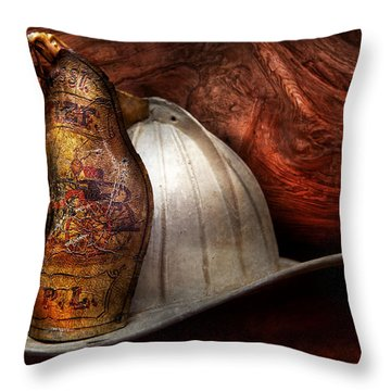 Fireman - The Fire Chief Throw Pillow
