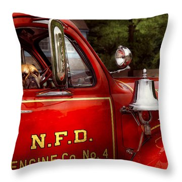 Fireman - This Is My Truck Throw Pillow by Mike Savad