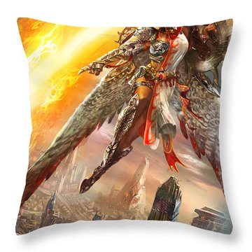 Firemane Avenger Promo Throw Pillow by Ryan Barger