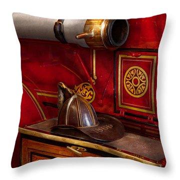 Firemen - An Elegant Job  Throw Pillow by Mike Savad