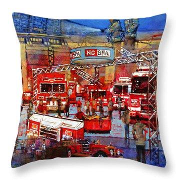 Firemen's Convention Throw Pillow