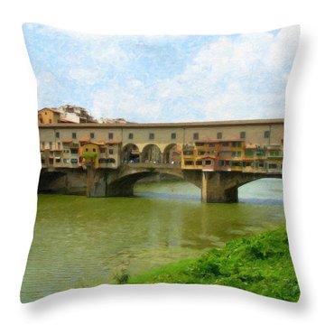 Firenze Bridge Itl2153 Throw Pillow