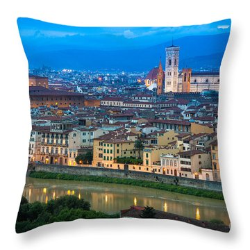 Firenze By Night Throw Pillow by Inge Johnsson