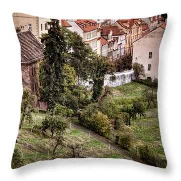 Firenze In Prague Throw Pillow by Joan Carroll