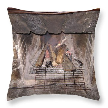 Fireplace Throw Pillow