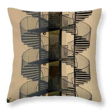 Firestairs Throw Pillow