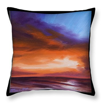 Firesun Sky Throw Pillow by James Christopher Hill