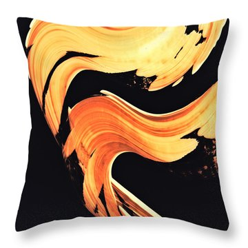 Firewater 5 - Abstract Art By Sharon Cummings Throw Pillow by Sharon Cummings