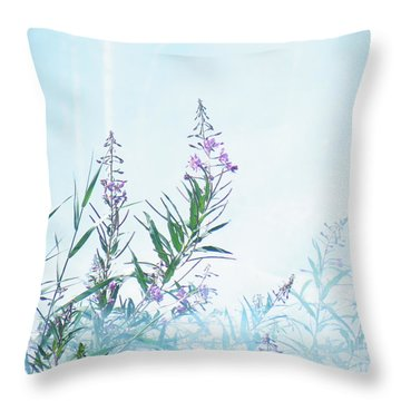 Fireweed Number Two Throw Pillow by Brian Boyle