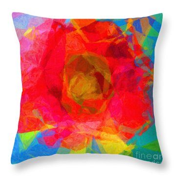 Firewheel - Gaillardia Pulchella Throw Pillow