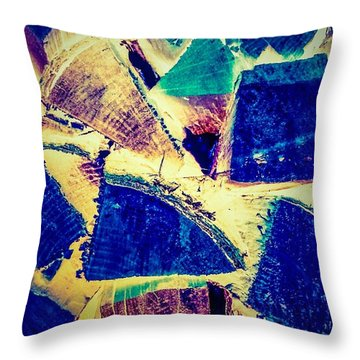 Firewood  Throw Pillow by William Wyckoff