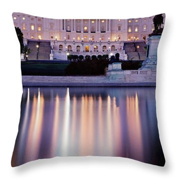 Firework Display Over A Government Throw Pillow by Panoramic Images