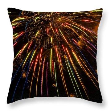 Firework Indian Headdress Throw Pillow