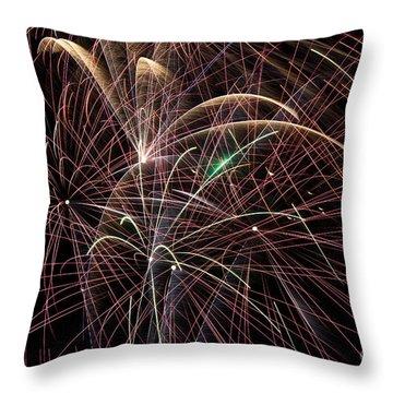Firework Trails Throw Pillow by Jason Meyer